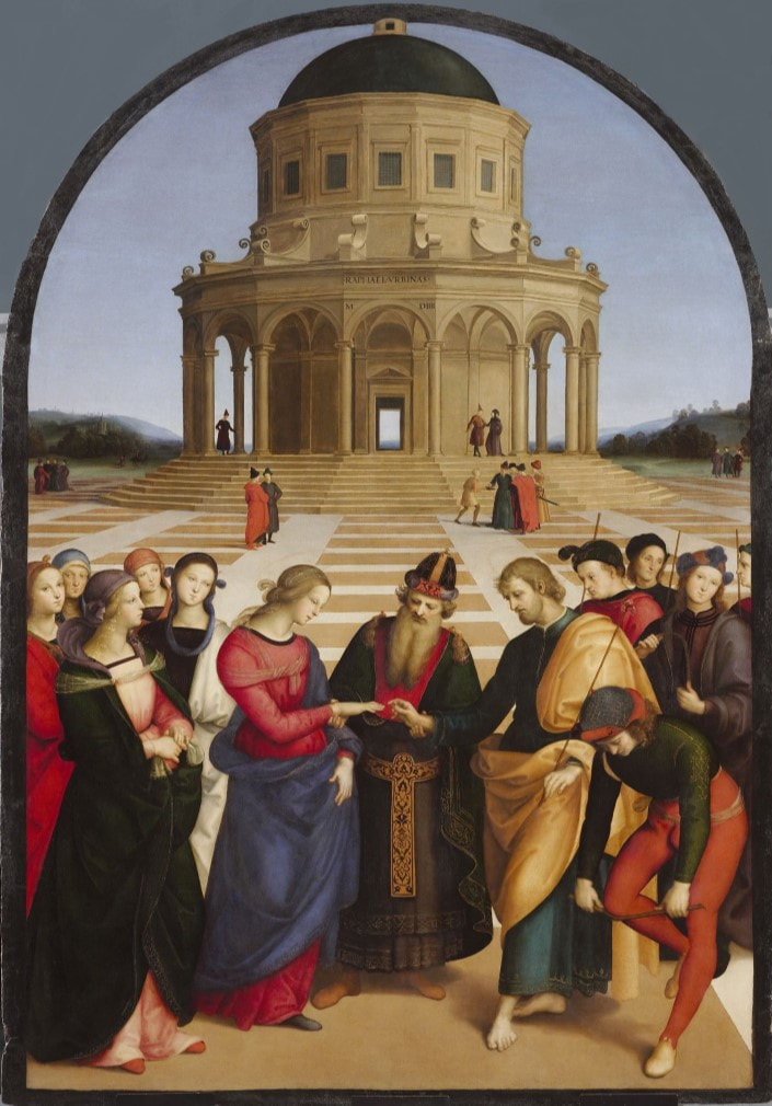 Raphael (Lo Sposalizio) The Marriage of the Virgin